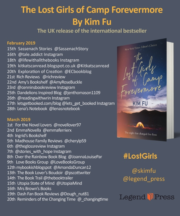 the lost girls of camp forevermore blog tour banner